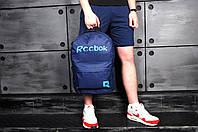 Рюкзак городской стильный качественный Reebok Graffiti, цвет синий (лого голубой), фото 1