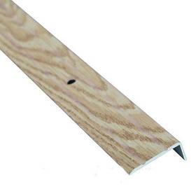 Алюминиевый лестничный профиль рифленый декорированный 24.5мм х 10мм 2.7м дуб капучино