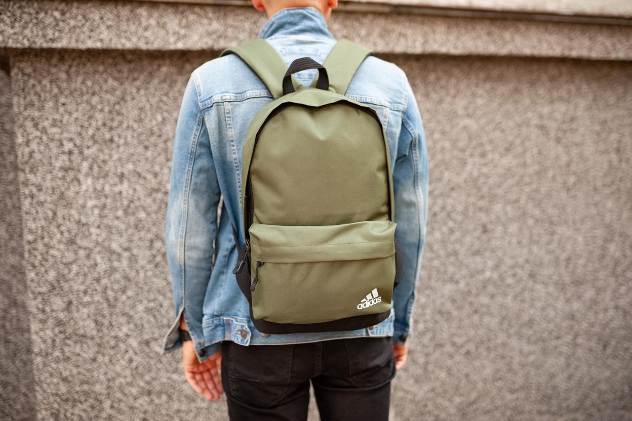 Рюкзак в стиле Adidas (khaki), городской рюкзак Адидас хаки, хаки рюкзак Адидас (Реплика ААА)