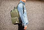 Рюкзак в стиле Adidas (khaki), городской рюкзак Адидас хаки, хаки рюкзак Адидас (Реплика ААА), фото 3