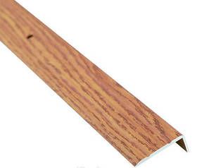 Алюминиевый лестничный профиль рифленый декорированный 24.5мм х 10мм 2.7м дуб светлый