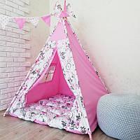 """Вигвам, детская палатка KatyPuf """"Розовые Ловцы снов"""""""