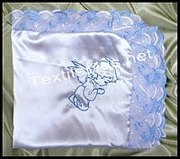Крыжма атлас с кружевом Textile plus (kod 4343)