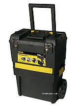 """Ящик STANLEY """"Rolling Workshop"""" 2-секційний пластмасовий на 2 колесах, з телескоп. ручкою 47x29.7x62 см"""