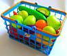 Детская корзина с овощами и фруктами, игрушечные продукты,корзинка