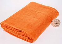 Махровая простынь оранжевого цвета