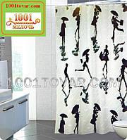 """Тканевая шторка для ванной комнаты """"Semsiyeli piz"""" (Девушка с зонтиком) из полиэстера Miranda, размер 180х200"""