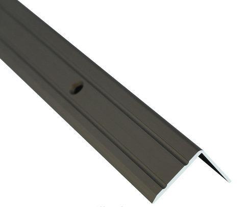 Алюминиевый лестничный профиль рифленый анодированный 24.5мм х 20мм 2.7м бронза