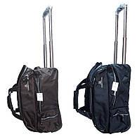 Дорожная сумка на колесах Cannes 50*30*30см с телескопической ручкой подойдет как ручная кладь