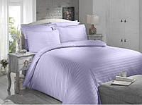 Комплект постельного белья двуспальный евро Сатин-Страйп Altinbasak Always Lila с 4 наволочками