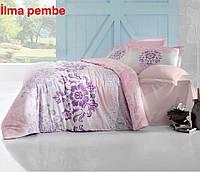 Евро комплект постельного белья Altinbasak Ilma pembe с 4 наволочками Турция