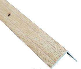 Алюминиевый лестничный профиль рифленый декорированный 24.5мм х 20мм 2.7м дуб капучино