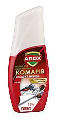 Жидкость от комаров, клещей и мошек 100 мл AROX