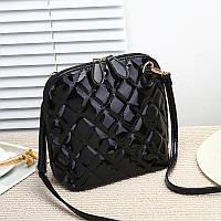 Маленькая женская сумка JingPin через плечо стеганая черная, фото 1