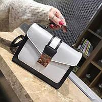 Маленькая женская двухцветная сумка JingPin серая, фото 1