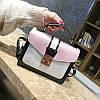 Маленькая женская двухцветная сумка JingPin розовая