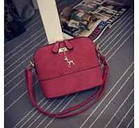 Маленькая женская сумка JingPin Deer красная, фото 1