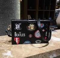 Маленькая женская сумка JingPin Книжка Back To School черная, фото 1