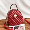 Маленькая женская стеганая сумка-рюкзак JingPin Kitty красная