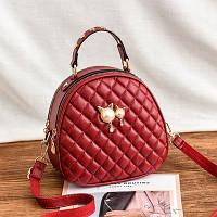 Маленькая женская стеганая сумка-рюкзак JingPin Kitty красная, фото 1
