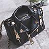Маленькая женская сумка JingPin в виде куртки косухи черная
