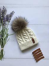 Вязаная шапка . Ручная вязка.