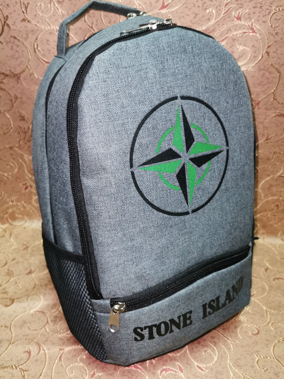(38*26-маленький)Рюкзак спортивный stone island мессенджер Хорошее качество ткань катион матовый городской опт