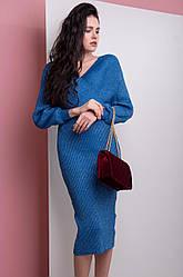Платье женское с люрексом летучая мышь синиее, зеленое, черное