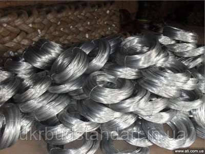 Проволока стальная оцинкованная термически обработанная Ф 0.8