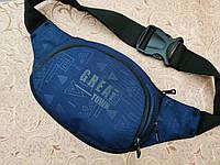 (3 кармана-16*38 )Сумка на пояс GREAT-TOMN Ткань Принт спортивные барсетки сумка только опт, фото 1