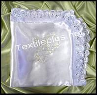 Крыжма атлас с кружевом Textile plus (kod 4346)