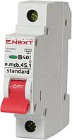Модульный автоматический выключатель e.mcb.stand.45.1.B40, 1р, 40А, В, 4,5 кА Енекст [s001012]