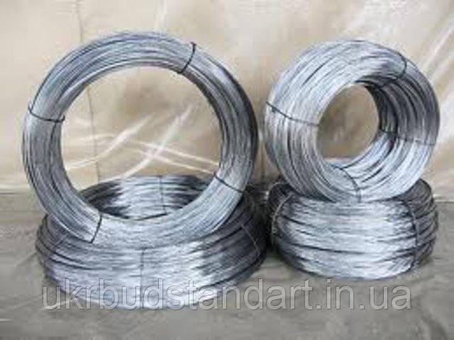 Проволока стальная оцинкованная термически обработанная Ф 2 (400 метров, 10 кг)