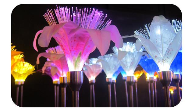 Светодиодная LED лилия,цветок ландшафтный дизайн.
