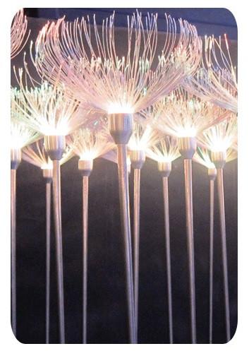 Ландшафтный LED цветок медуза .