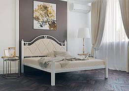 Кровать двухспальная изголовье их кожзама Эсмеральда Металл-Дизайн 140×190