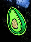 Термо аппликация, нашивка, трансфер Авокадо, 4х6 см
