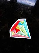 Термо аплікація, нашивка, трансфер Райдужний кристал, 4х4 см
