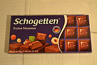 """Молочный шоколад Schogetten  Praline Noisettes наполнителем """"Нуга"""" 18шт, 100гр, Германия"""