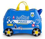 Детский чемодан Percy the Police Car Trunki оригинал, фото 2