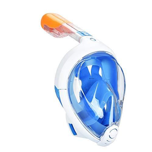 МаскаEasyBreath для подводного плавания, дайвинг, снорклинг, полнолицевая, синяя