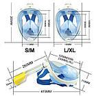 МаскаEasyBreath для подводного плавания, дайвинг, снорклинг, полнолицевая, синяя, фото 4