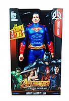 Супергерой DY-H58 ( DY-H5828 (Superman) AV,29см,подв.руки и ноги,звук,свет,бат(табл),в кор, 18-30-6см)
