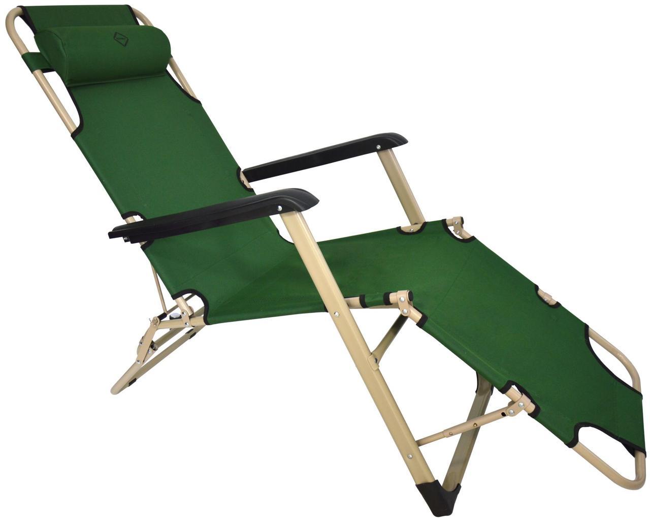 Шезлонг лежак Bonro 70000013 (180см) Зеленый