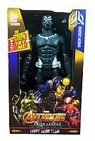 Супергерой DY-H58 ( DY-H5826 (Black Panther) AV,29см,подв.руки и ноги,звук,свет,бат(табл),в кор, 18-30-6см )