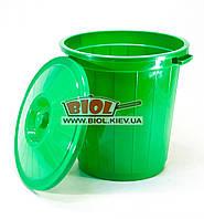 Бак 30л пластиковый универсальный с крышкой (цвет - зеленый) Горизонт GR-02041-2
