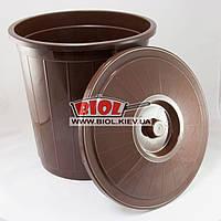Бак 30л пластиковый универсальный с крышкой (цвет - коричневый) Горизонт GR-02041-3