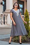 Женственное платье из красивого однотонного коттона раз.50,52,54,56, фото 3