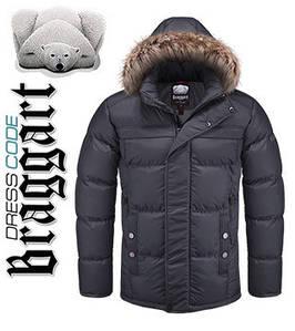 Купить мужскую куртку зимнюю с мехом оптом 54, графит