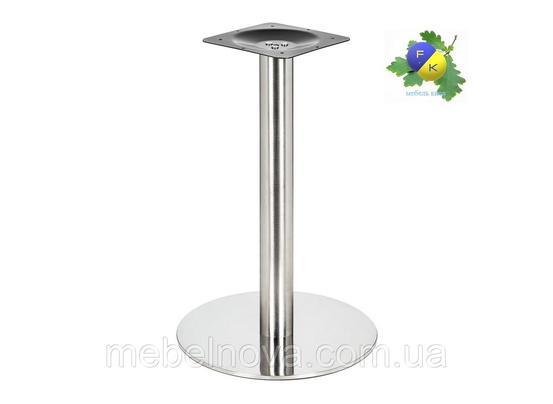 Подстолья металлические 730 мм.  Е-19.Опоры столов из нержавеющей стали. Для кафе, бара, ресторана.